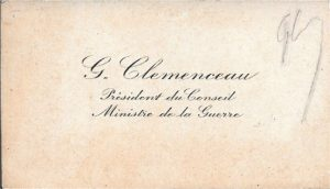 CDV Clemenceau & initiales