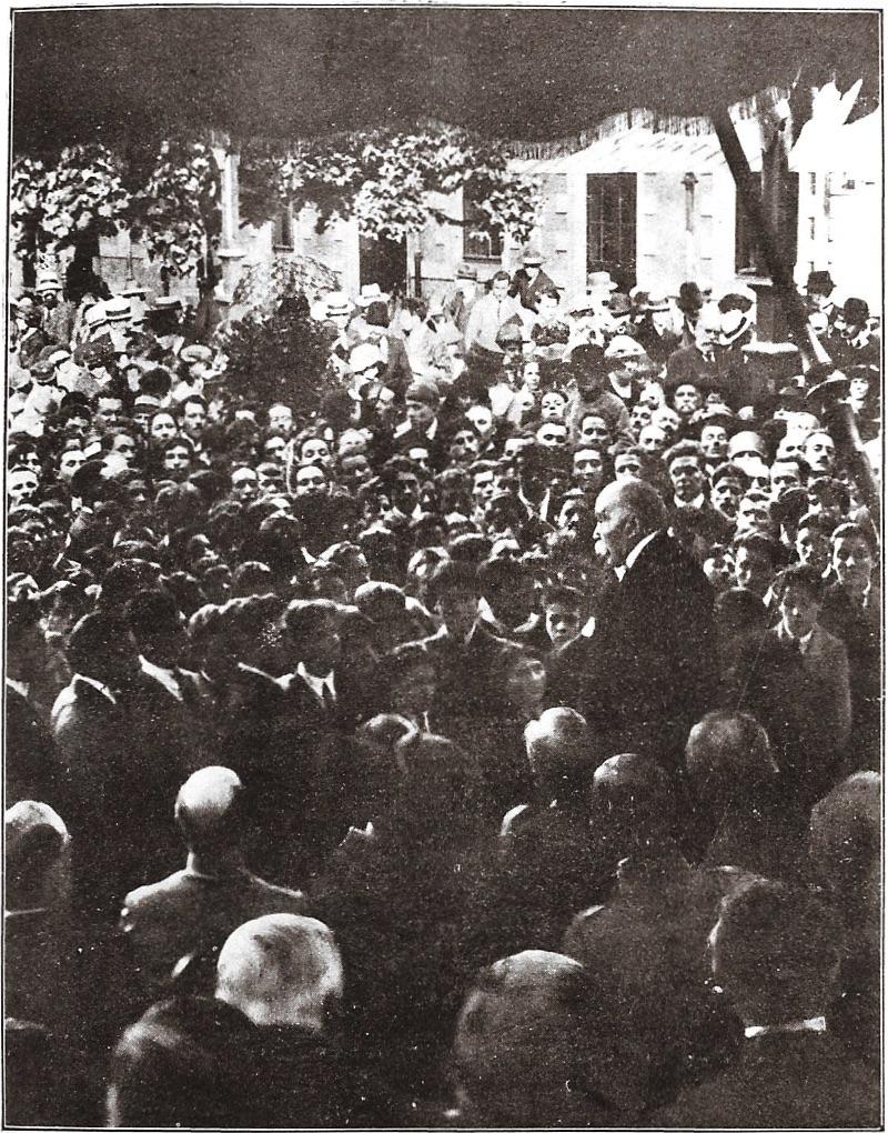 Clemenceau au lycée le 27 mai 1922 Dédicace