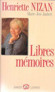 Henriette Nizan Livre
