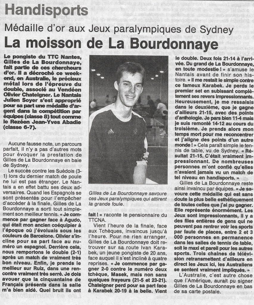 Gilles de la Bourdonnaye OF octobre 2000