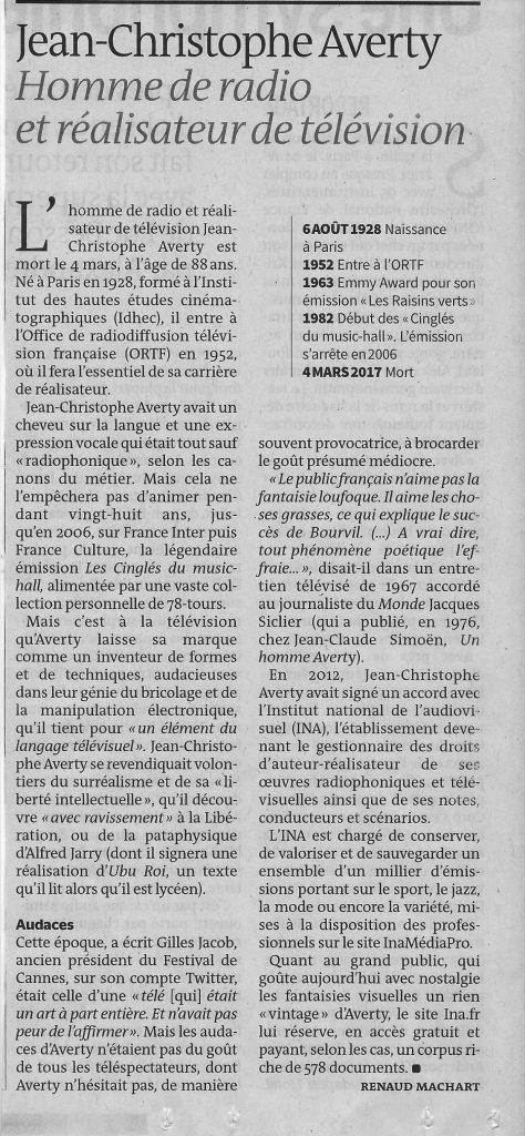 Averty Le Monde 7 mars 2017