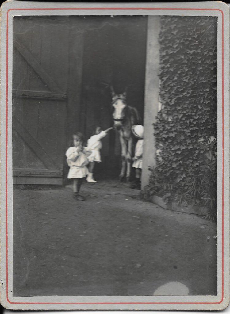 Les petits Decré à La Close en 1923