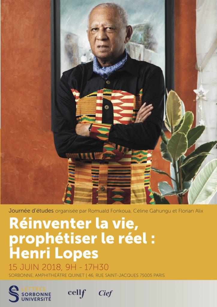 Affiche Journée d'études Henri Lopes 15 juin