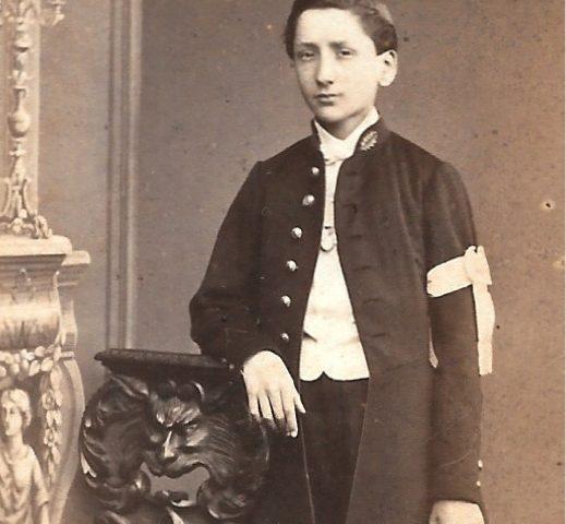 CDV d'un lycéen des années 1870