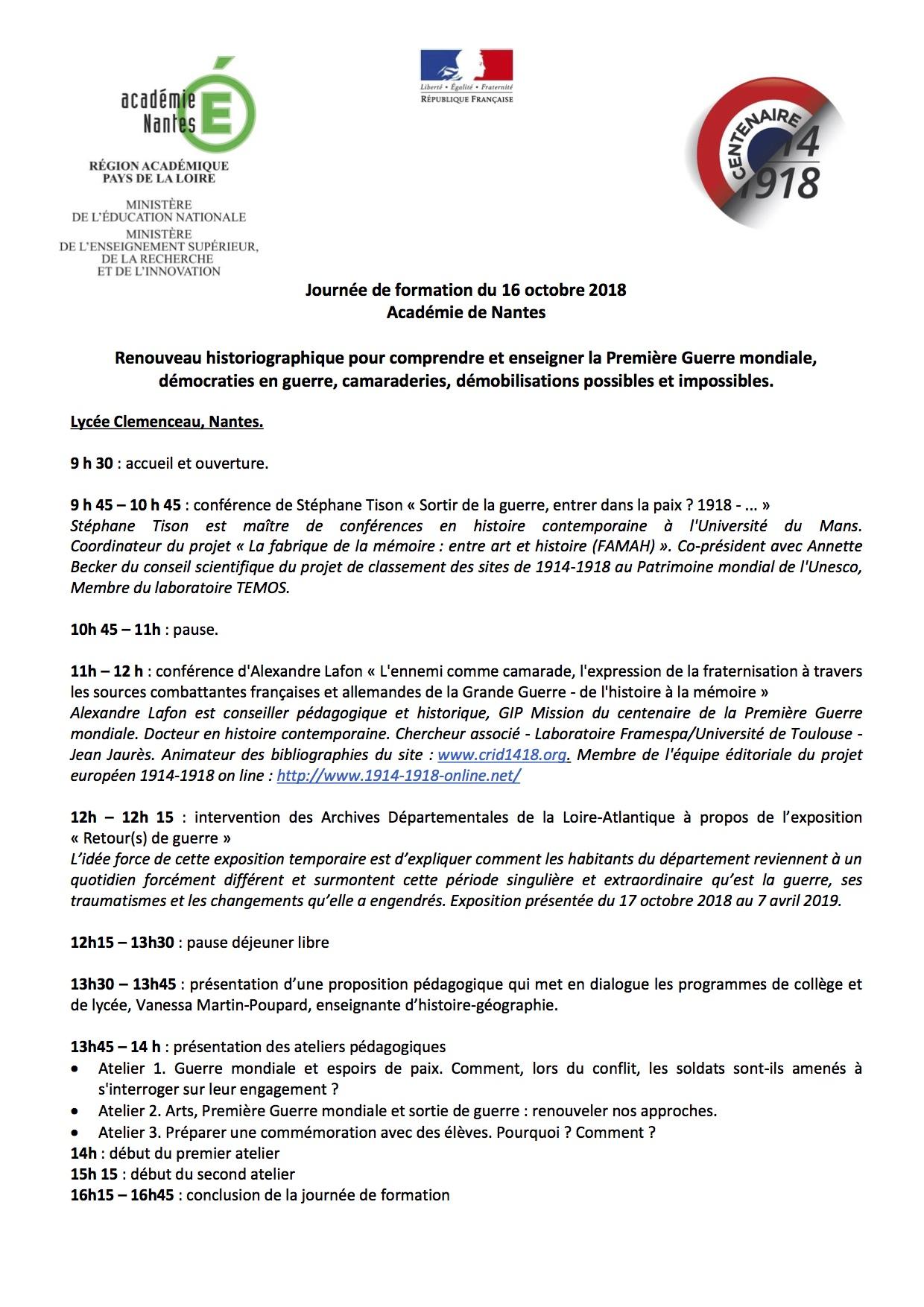 formation du 16 octobre Centenaire programme - copie